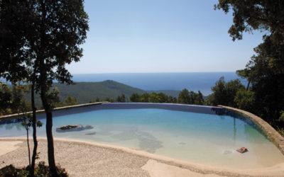 Costruzione e personalizzazione di una piscina interrata naturale